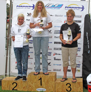 Zara on the top spot of the podium